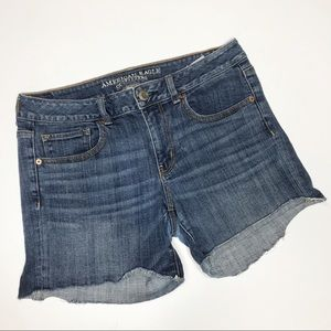 american eagle midi denim jean cut off short